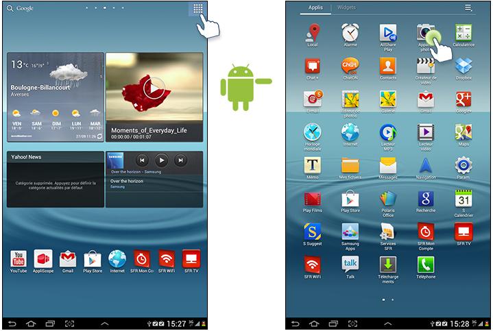 application pour tablette samsung galaxy tab 3