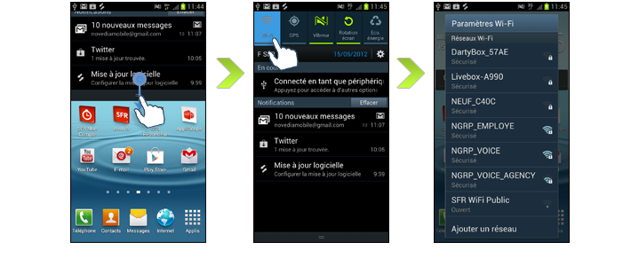 samsung galaxy s3 how to connect wifi to internet