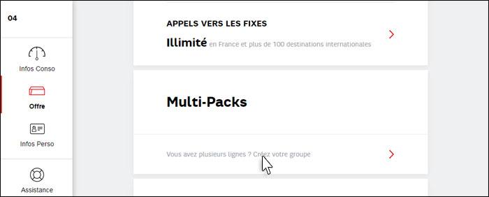 comment remplir le formulaire multi pack sfr