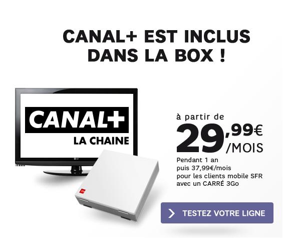 Canal+ inclus dans la box de SFR