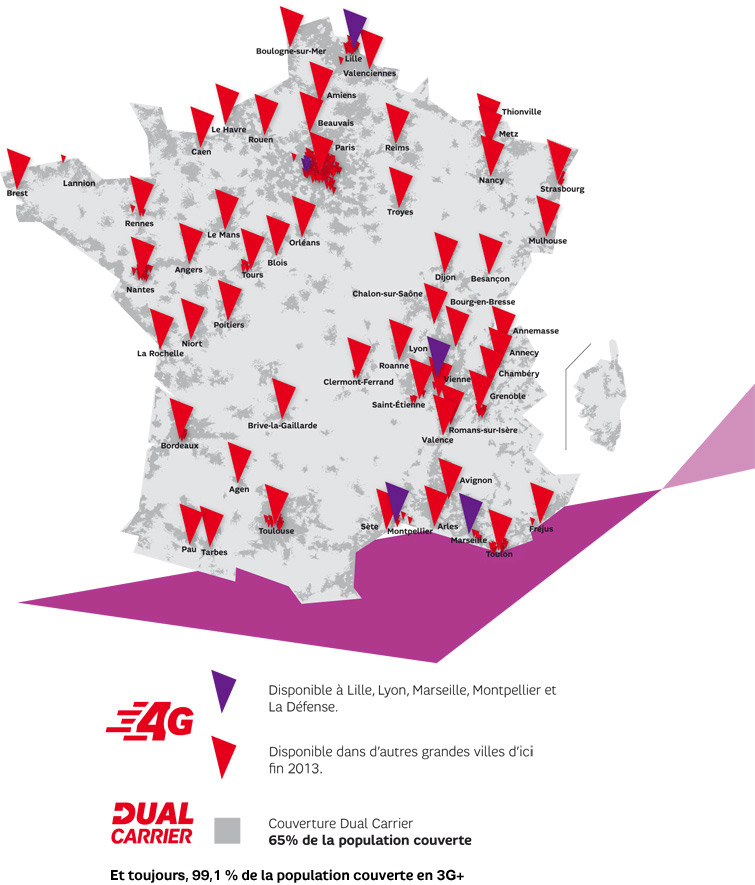 Carte couverture 4G