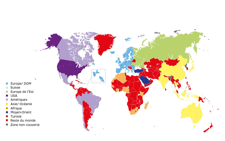 le roaming avec votre forfait international chez sfr
