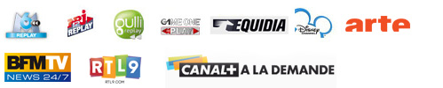 NRJ12 Replay, Gulli Replay, Game One Replay, Equidia Watch, Disney Channel Replay, Mytf1