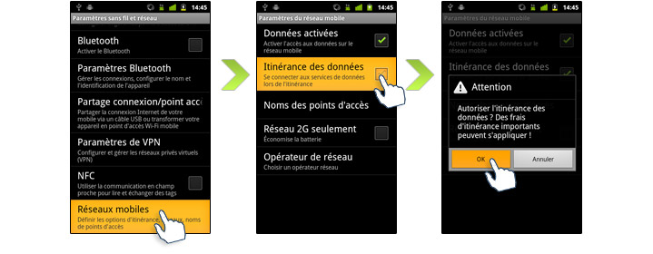 runtime mobile et tablette samsung galaxy s comment utiliser etranger