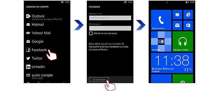 Nokia lumia 520 configurez votre compte facebook - Les 3 suisses mon compte ...