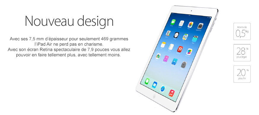 iPad Air - Nouveau design