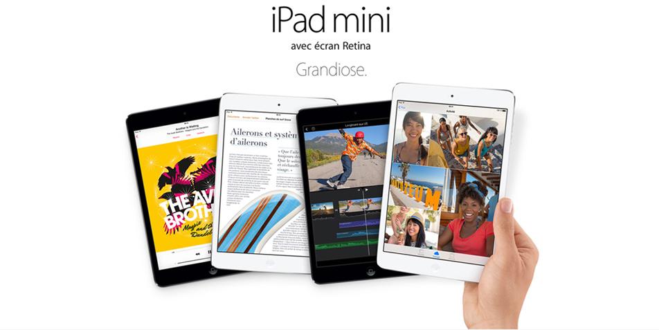 iPad Mini avec écran Retina. Grandiose.