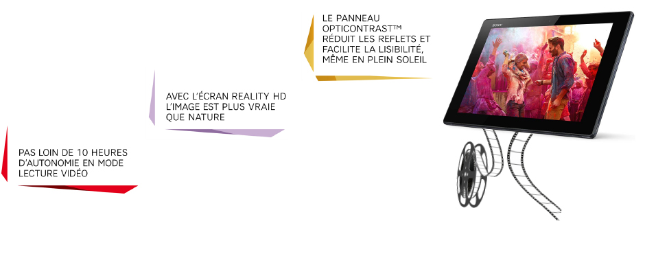 Le panneau Opticontrast réduit les reflets et facilite la lisibilité ; avec l'écran Reality HD l'image est plus vraie que nature ; pas loin de 10h d'autonomie en mode lecture vidéo