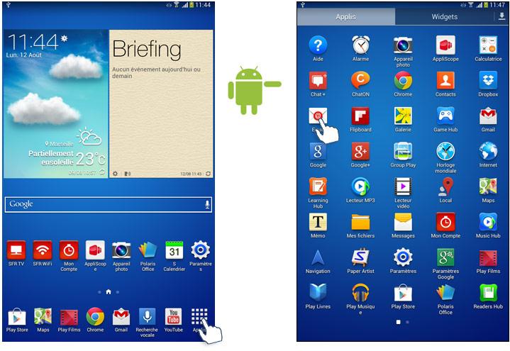 Comment lire r diger et r pondre un e mail sur votre for Photo ecran tablette samsung