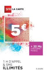 Mobile sans engagement, SFR la carte SIM sans abonnement