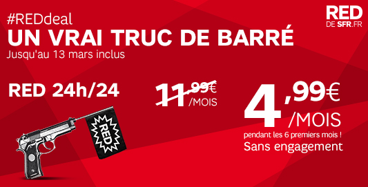 SFR : RED Deal jusqu'à 13 mars inclus