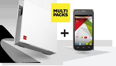 Forfait moins cher Multi-Packs SFR, meilleure offre Internet + mobile