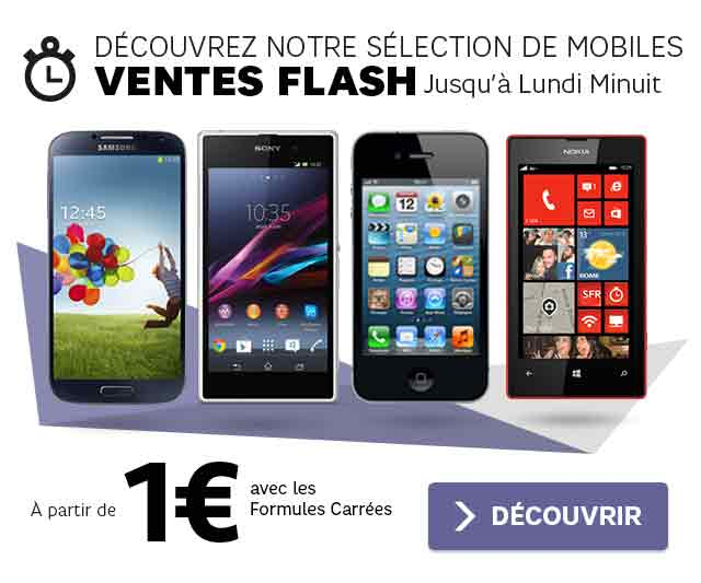 Offre mobile SFR : Ventes flash à 1€