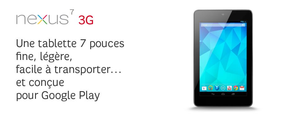 Une tablette 7pouces fine, légère, facile à transporter… et conçue pour GooglePlay