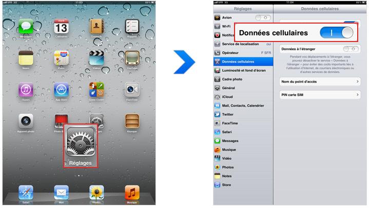 Comment r tablir la connexion internet de votre ipad - Comment ameliorer la connexion internet ...