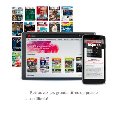 SFR PRESSE: Vos titres préférés en illimité