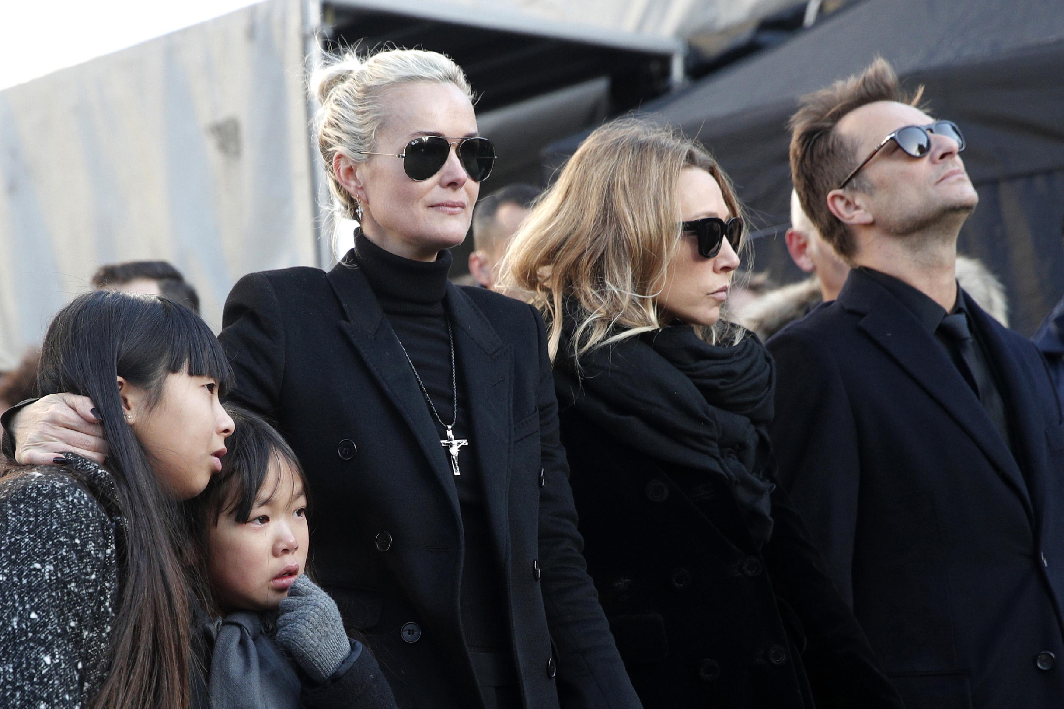 Laeticia Hallyday le 9 décembre 2017 à Paris lors de l'hommage populaire à Johnny