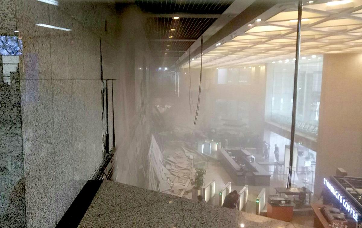 Un étage s'effondre à la Bourse de Jakarta, 75 blessés — Indonésie