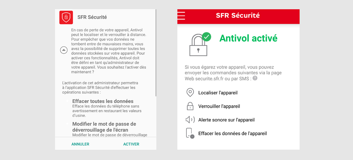 comment localiser mon telephone android sfr