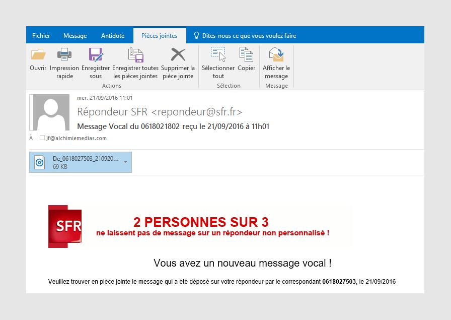 ecouter message portable sfr
