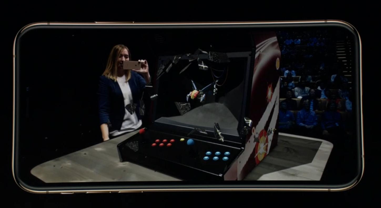 Apple a fait une démonstration des jeux en réalité augmentée accessibles sur l'iPhone Xs.