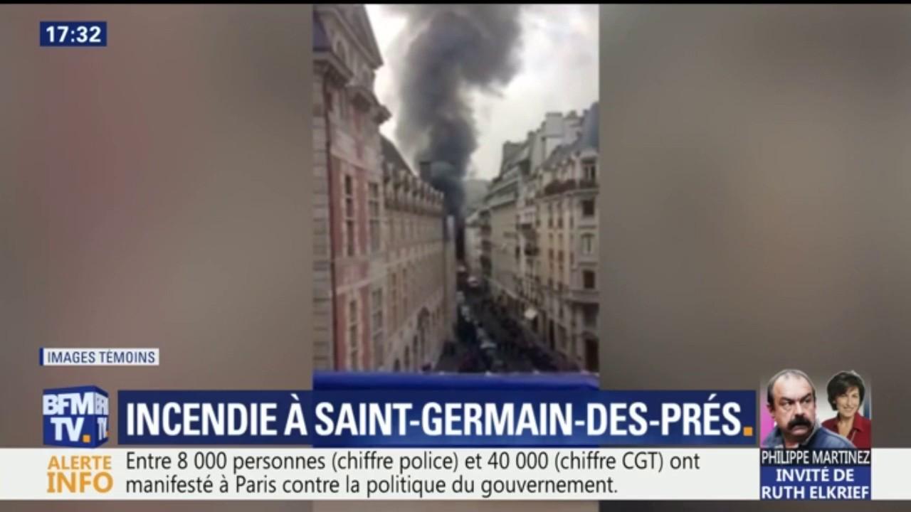 Un incendie détruit une librairie parisienne, 7 blessés