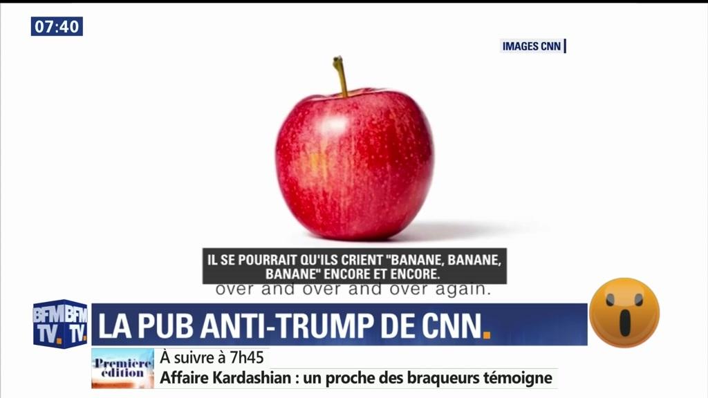 Message de CNN à Donald Trump: ceci n'est pas une banane