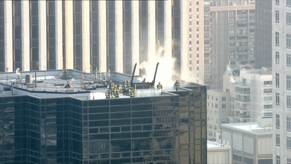 La Trump Tower de New York en feu
