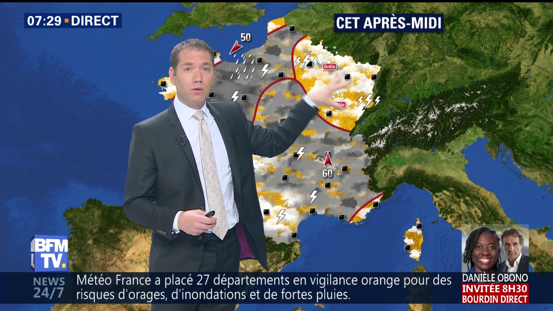Le Cher placé en vigilance orange — Orages