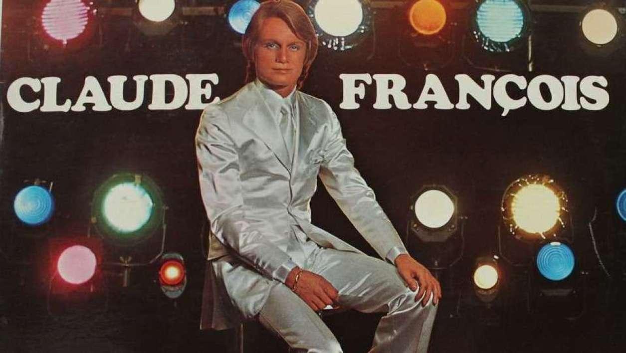 Claude François sur la pochette de son single