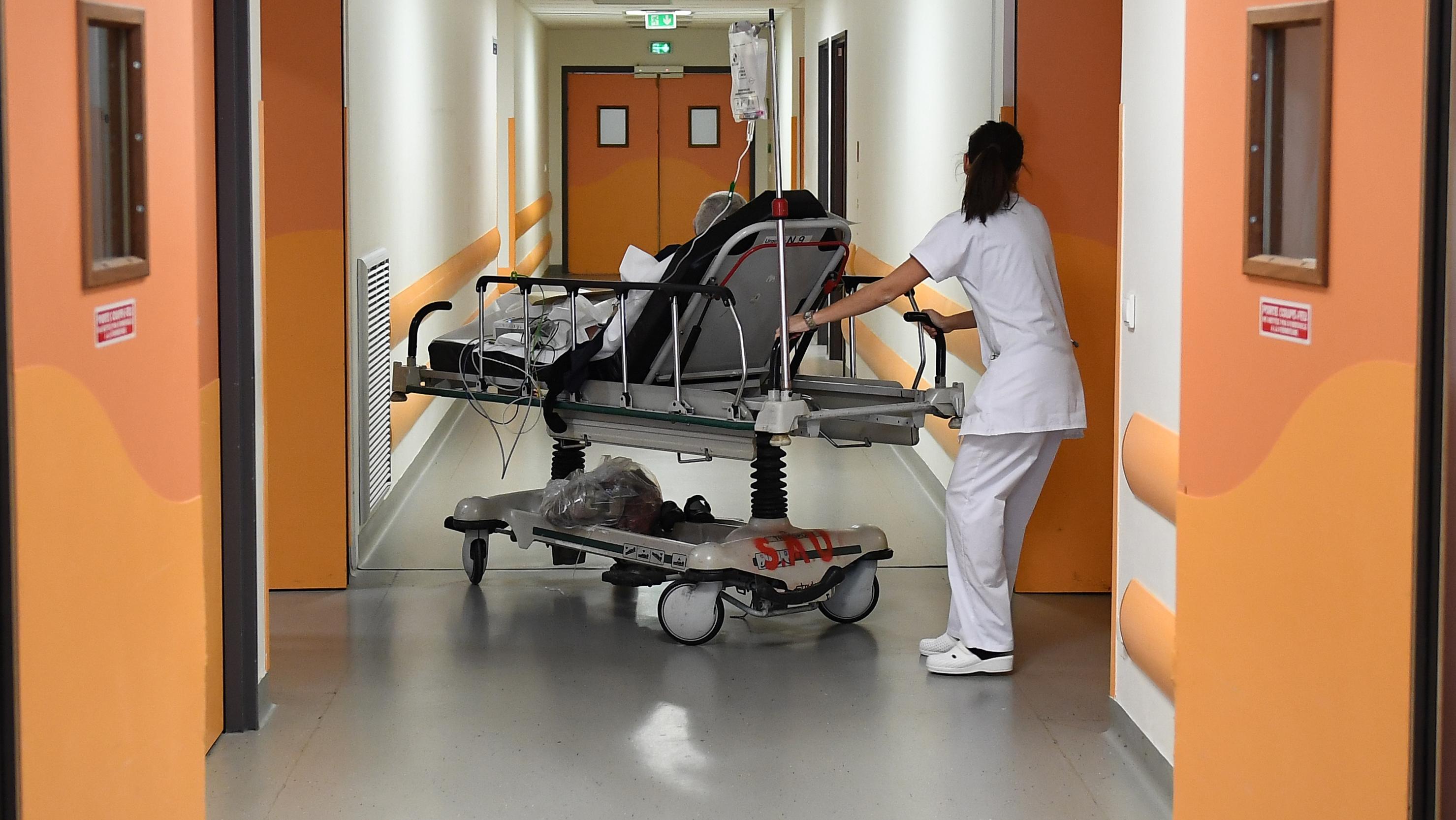 Vue de l'intérieur de l'hôpital de la Timone en janvier 2017