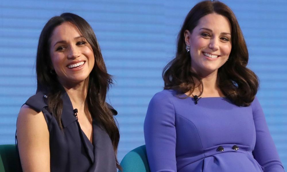 Meghan Markle et Kate Middleton en février 2018