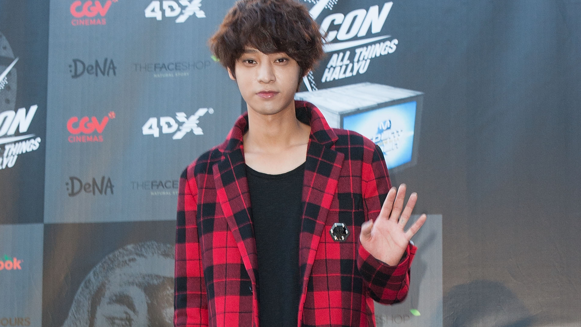 Le chanteur Jung Joon Young à Los Angeles en 2014