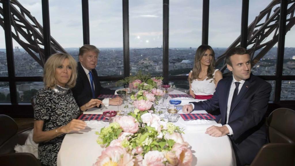 Qu'ont mangé les couples Trump et Macron à la tour Eiffel?