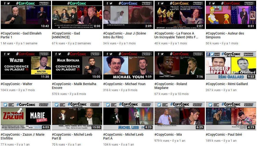 La chaîne Youtube CopyComic