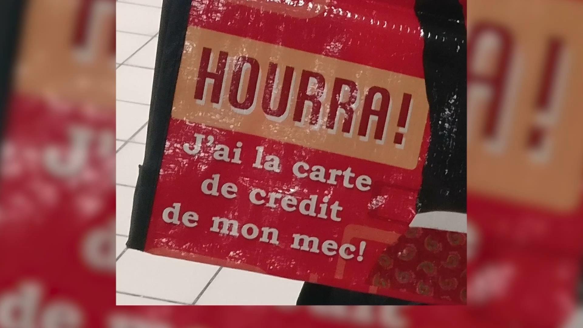 Super ! Auchan sort un sac de courses sexiste