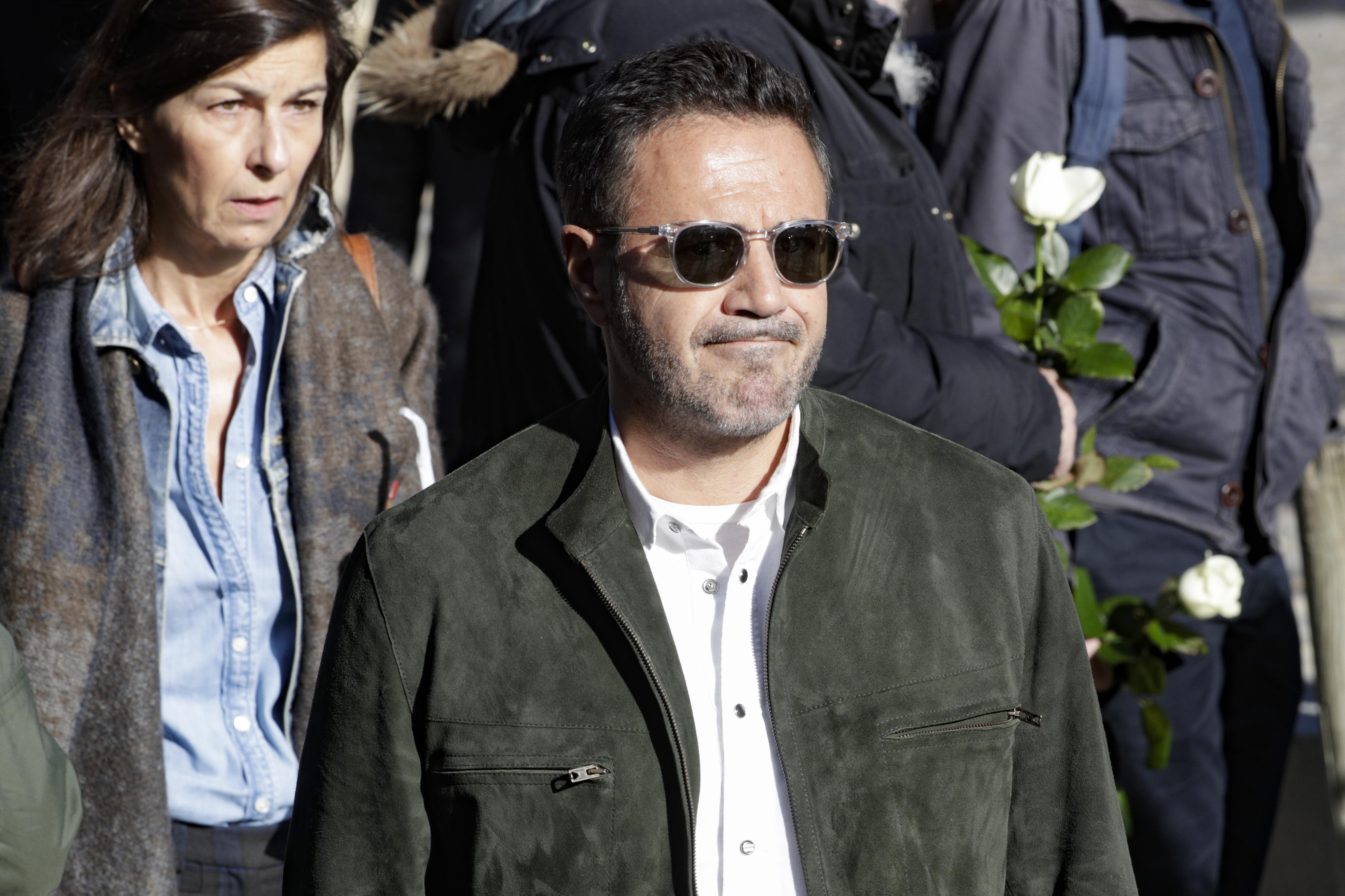 José Garcia aux obsèques de Philippe Gildas