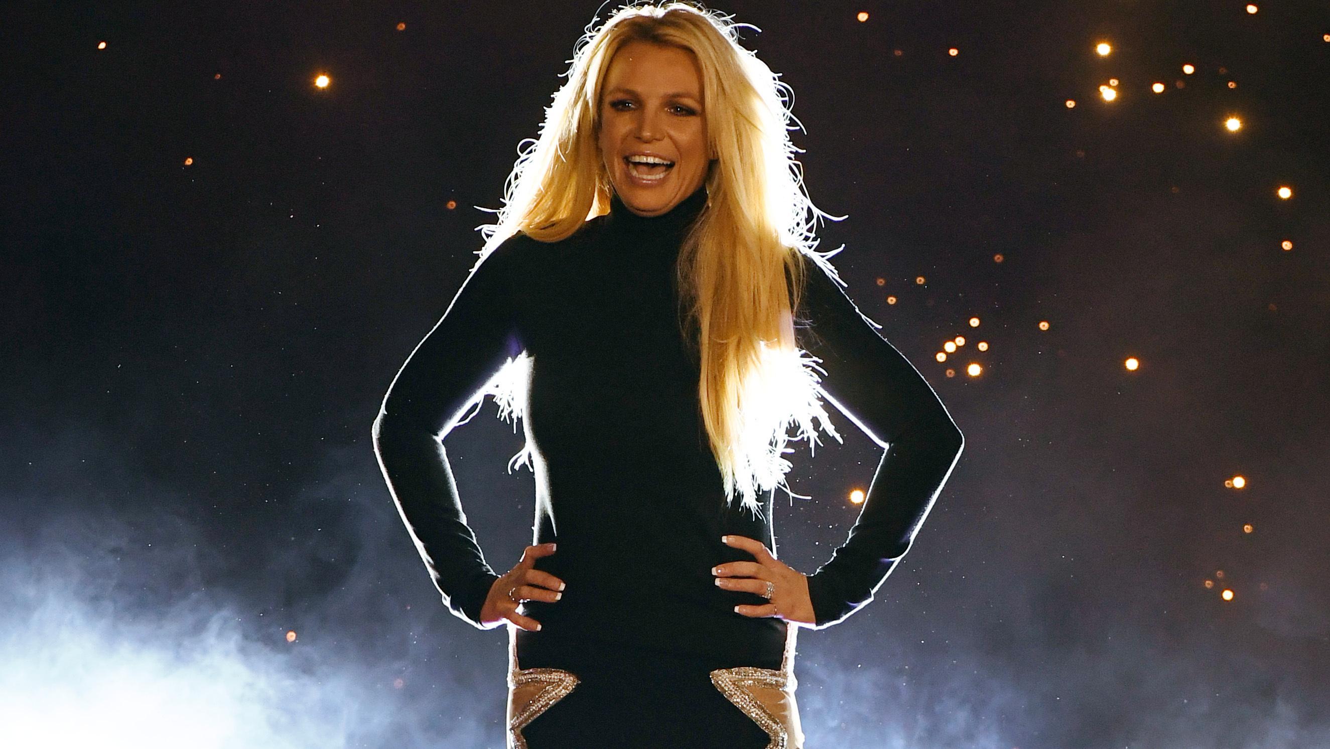 Britney Spears lors de l'annonce de son nouveau show