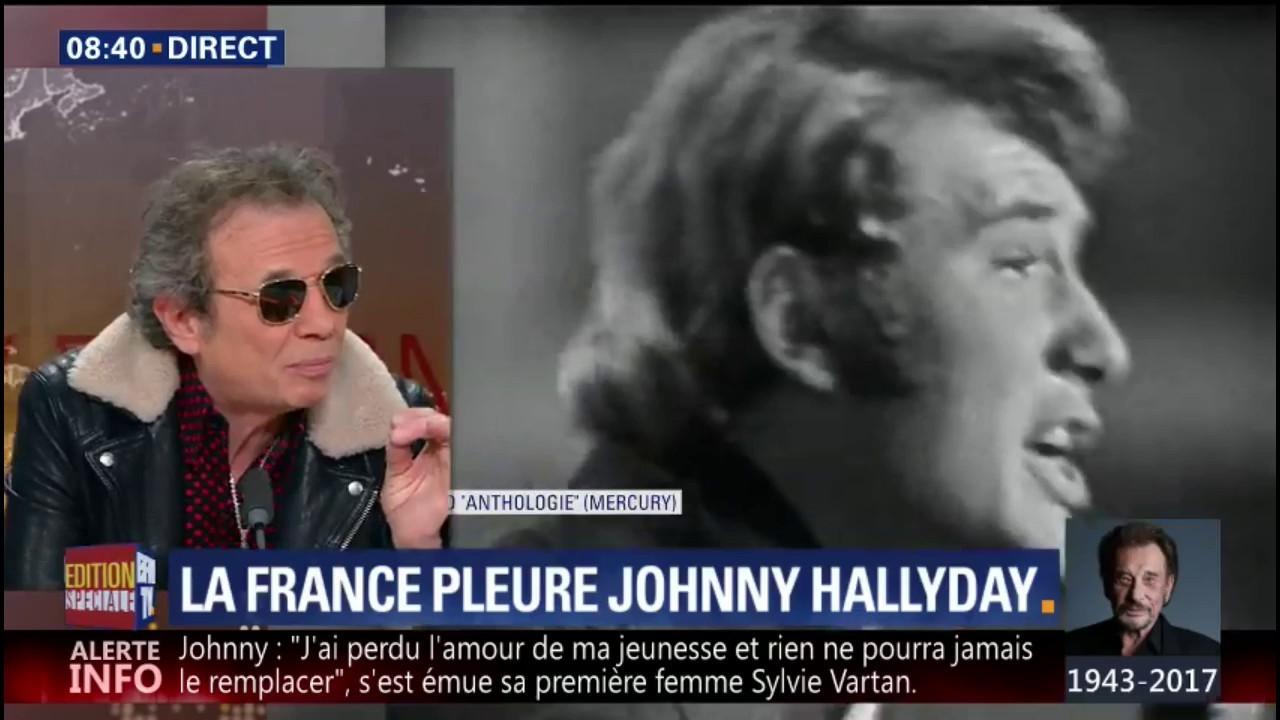 """EN VIDEO - Philippe Manœuvre raconte l'histoire de """"Noir c'est noir"""", tournant rhythm and blues dans la carrière de Johnny Hallyday"""