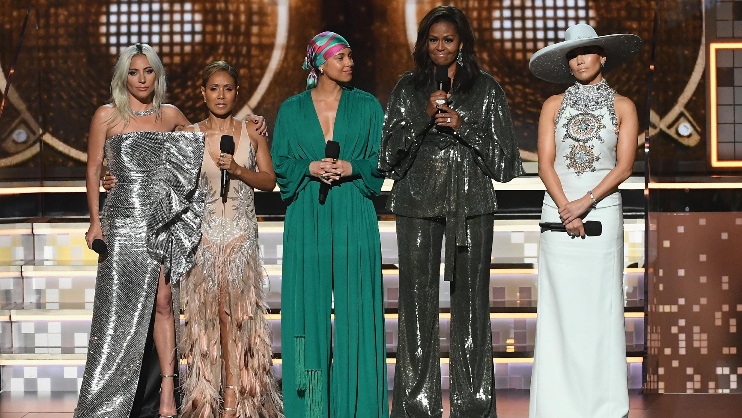 Lady Gaga, Jada Pinkett Smith, Alicia Keys, Michelle Obama et Jennifer Lopez