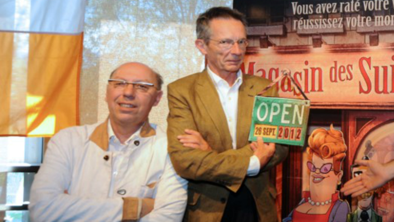 Etienne Perruchon avec Patrice Leconte (à droite)