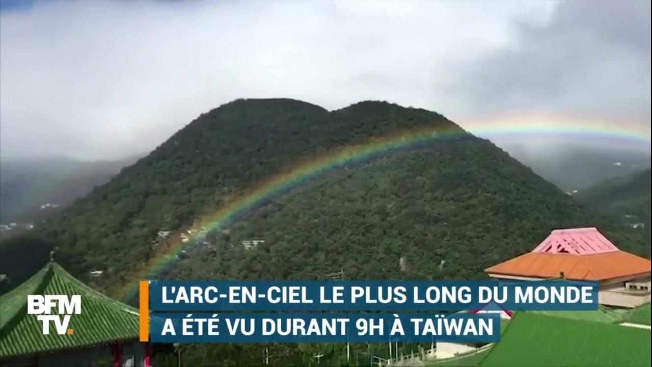 EN VIDEO - L'arc-en-ciel le plus long du monde a été observé pendant 9 heures à Taïwan