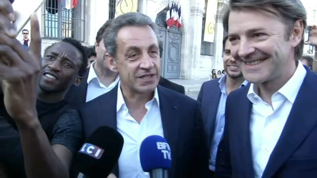 Barrages L1/L2. Troyes - Lorient : Nicolas Sarkozy dans les tribunes