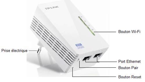 L'adaptateur CPL AV500 WiFi en détail
