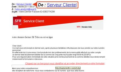 Se Proteger D E Mails De Phishing Ou Sms Frauduleux Avec Sfr