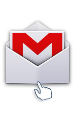 Je lance l'application de messagerie Gmail