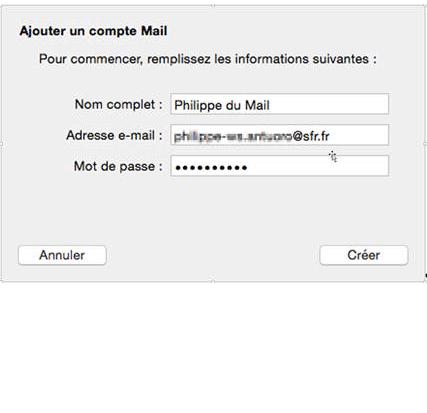 configurer une adresse e mail sfr dans mail sous mac os x. Black Bedroom Furniture Sets. Home Design Ideas