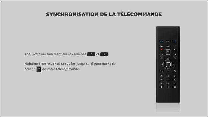 Mon décodeur synchronise la télécommande