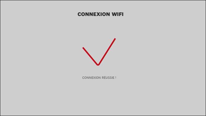 Si j'ai choisi une connexion sans fil WiFi