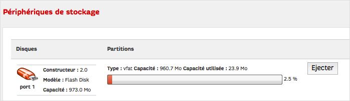 Je connecte mon disque dur ou ma clé USB